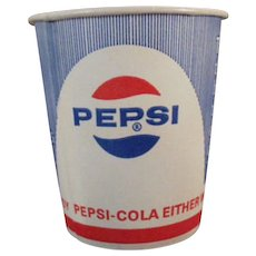 Five Vintage Pepsi Paper Cups with Diet Pepsi Logo