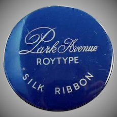 Vintage Park Avenue Ribbon Tin - Old Royal Typewriter Ribbon Tin