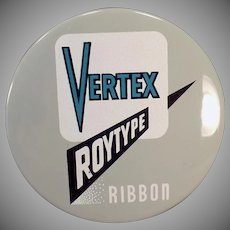 Vintage Typewriter Ribbon Tin -  Old Vertex Roytype Tin – Royal Typewriter Company