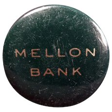 Vintage Celluloid Tape Measure - Old Advertising Tape Measure - Mellon Bank