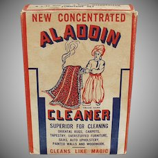 Vintage Soap Box  - Old Aladdin Cleaner with Nice Graphics - 1944