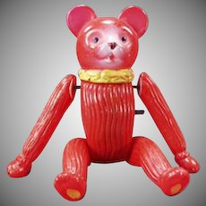Vintage O.J. Celluloid Wind Up Toy - Old Tumbling Bear - Occupied Japan