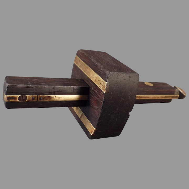 Vintage Mortise Scribe Rosewood Brass Sheffield Old Ogee S Antiques Ruby Lane