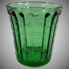 Vintage Green Akro Agate - Shot Glass or Child's Glass