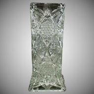 Vintage Straw Holder - Illinois Glass Pattern - Old Pressed Glass Soda Fountain Strawholder