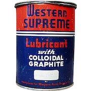 Vintage Grease Tin -  Western Auto Supreme Lubricant Automotive Tin