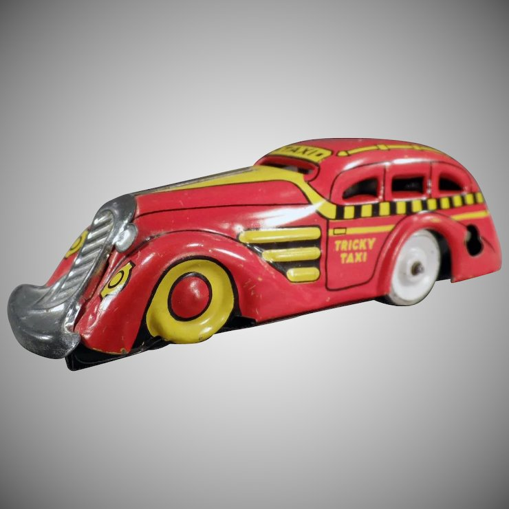 Vintage Marx Tin Toy - Tricky Taxi Wind Up Car - Nice Color : Ogee\'s ...