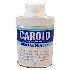 Vintage Caroid Dental Powder – Old Miniature Sample Tooth Powder Tin