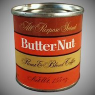 Vintage Butter-Nut Coffee Tin - Sample Tin - Old Coca-Cola Company Product