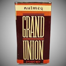 Vintage Spice Tin - Old Grand Union Nutmeg Tin