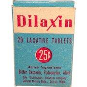 Vintage Medicine Box - Old Dilaxin Laxative Box