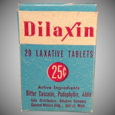 Vintage Medicine Box - Old Dilaxin Laxative Box