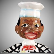 Vintage Spoon Rest with Black Chef Nodder Head - Old Black Memorabilia