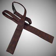 Vintage Wembley Bow Tie – Classy Brown Brocade Adjustable Self Tie Bat Wing