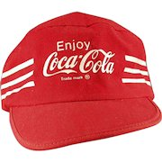Vintage Coca-Cola Hat - Old Baseball Cap with Coke Advertising