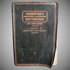 Vintage Webster's, Practical Illustrated Dictionary ca. 1942 - Old Soft Cover Edition
