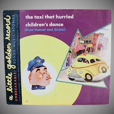 Child's Vintage Little Golden 78 Record - The Taxi That Hurried / Children's Dance