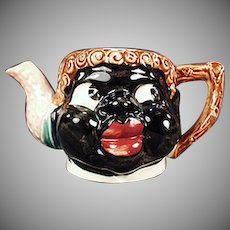 Vintage Black Memorabilia - Colorful Old Mammy Teapot without a Lid