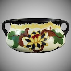 Vintage Czechoslovakian Bowl - Old Handled Art Pottery Planter