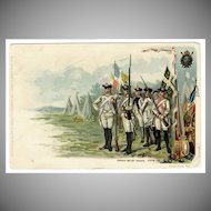 Vintage Postcard - Colonial Heroes Series - French Relief Troops