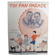 Vintage Sheet Music - Tin Pan Parade with Ukulele Arrangement - Children on Cover