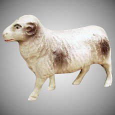 Vintage Celluloid Toy - Old Miniature Ram Figure - Viscaloid Celluloid