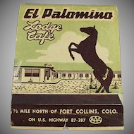 Large Vintage Advertising Match Book - Over Sized - El Palomino Lodge