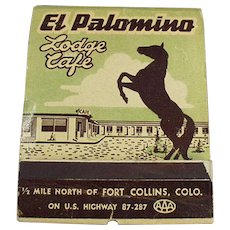 Vintage Match Book - Over Sized - Large Old  Advertising Matchbook - El Palomino Lodge