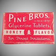 Vintage Sample Cough Drop Box - Old Pine Bros. Test Sample Box