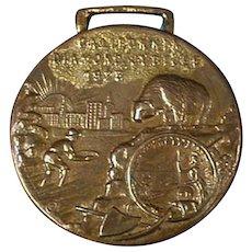 Vintage Watch Fob - Old Fob Celebrating California's Diamond Jubilee - 1925