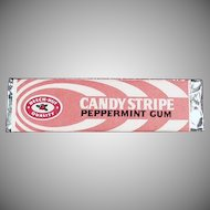 Vintage Beech Nut Candy Stripe Chewing Gum - Old Stick ca. 1960's