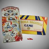 Vintage Marx Bazooka Bagatelle - Old Marble Game Toy with Original Box