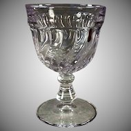 Vintage Fostoria #2412 Colony Pattern Water Goblet Glass - Sun Purple - 8 Available