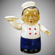 Vintage Wind Up Celluloid Toy - Black Waiter W-up - Occupied Japan.
