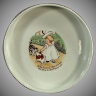 Vintage Baby Plate - Nursery Rhyme Feeding Dish - Baby Bunting - Old Homer Laughlin