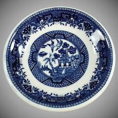 Vintage Butter Pat - Old Blue Willow Pattern