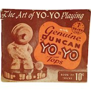 Vintage Yo-Yo Instruction Booklet  - The Art of Yo-Yo Playing - 1950