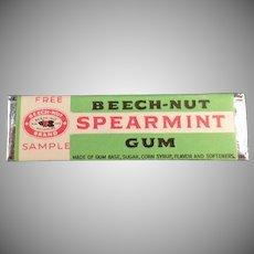 Vintage Beech-Nut Spearmint Gum - Old Sample Stick
