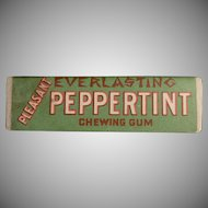 Vintage Chewing Gum Stick - Old Everlasting Peppertint Peppermint