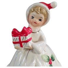 Vintage Josef Original - Old Christmas Girl Bell