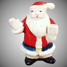 Vintage Christmas Candle Holder - Miniature Santa Claus Figure