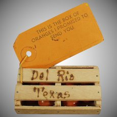 Vintage Promotional Mailer - Old Texas Souvenir - Orange Crate