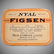 Vintage Laxative Tin – Nyal Figsen – Old Medical Tin