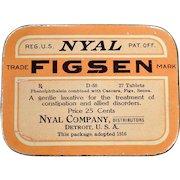 Vintage Laxative Tin – Nyal Figsen – Old Medical Tin