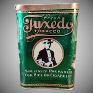 Vintage Tobacco Tin- Old Tuxedo Concave Pocket Tin