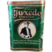 Vintage Tobacco Tin- Old Tuxedo Concave Pocket Tin