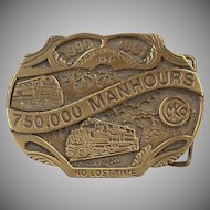 Old Belt Buckle - Morrison Knudsen Locomotive Shop - MKCo. Limited Edition