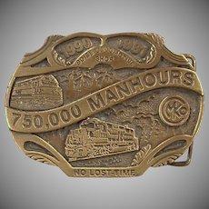 Old Belt Buckle - Morrison Knudsen Locomotive Shop - MKCo. Limited Edition