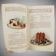 Vintage K C Baking Powder Advertising - Old Recipe Booklet