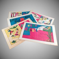 Children's Vintage Fairy Tale Booklets - Group of Five - Memorable Old Childhood Stories